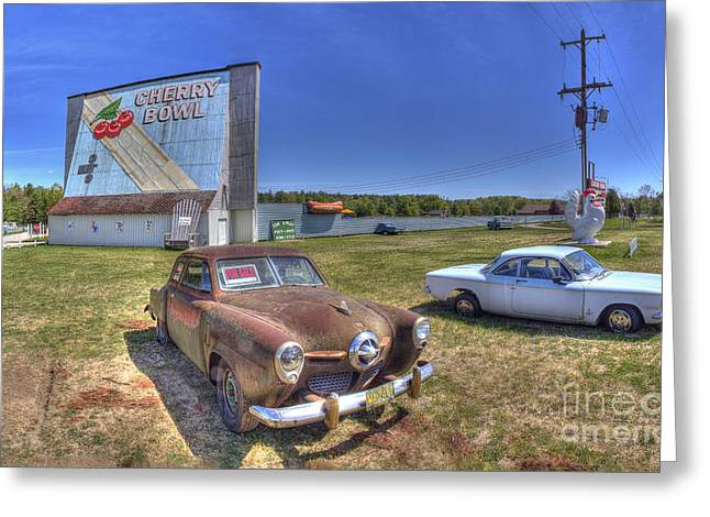 Cars At The Drive-in Greeting Card