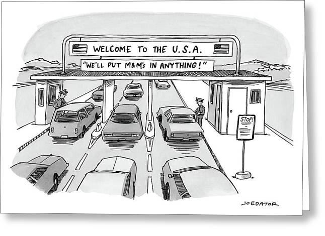 Welcome To The Usa Greeting Card