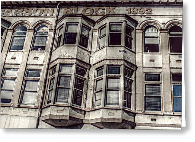 Greeting Card featuring the photograph Carson Block by Melanie Lankford Photography