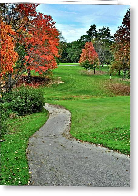 Cart Path Greeting Card
