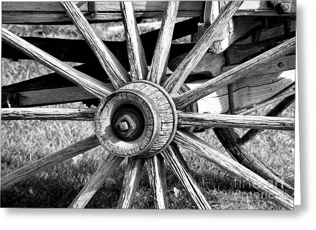 Greeting Card featuring the photograph Cart Wheel by Mae Wertz
