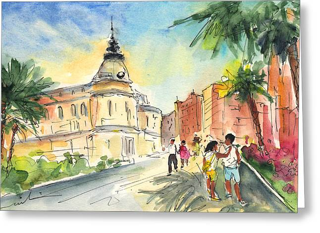 Cartagena 01 Greeting Card by Miki De Goodaboom