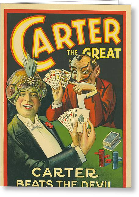 Carter Beats The Devil Greeting Card by Underwood Archives