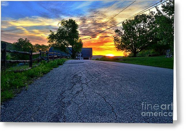 Carter Farm At Sunset Hdr Greeting Card by Sabine Jacobs