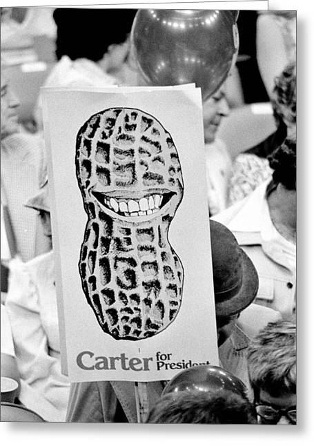 Carter For President Greeting Card by Benjamin Yeager
