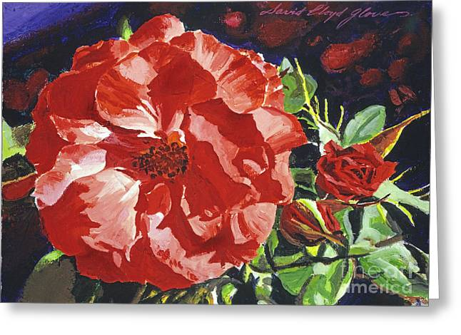 Cartier Rose Greeting Card by David Lloyd Glover