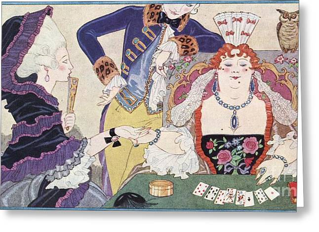 Cartomancy In France, Historical Artwork Greeting Card by British Library