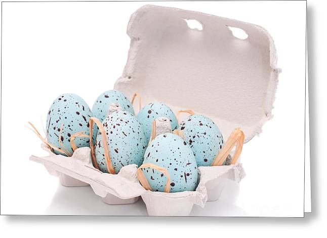 Carton Of Easter Eggs Greeting Card by Amanda And Christopher Elwell