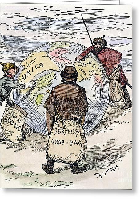 Cartoon - Imperialism 1885 Greeting Card