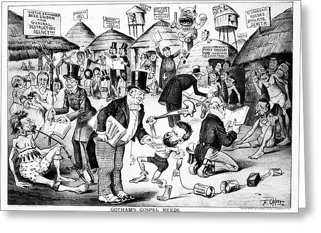 Cartoon Anarchists, 1885 Greeting Card by Granger