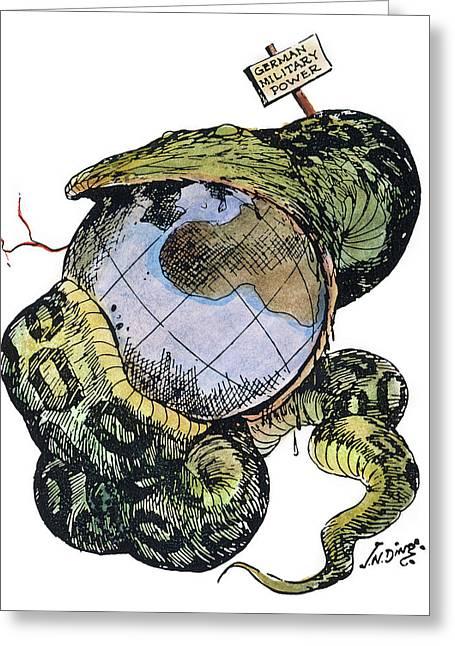 Cartoon Anti-german, C1917 Greeting Card by Granger