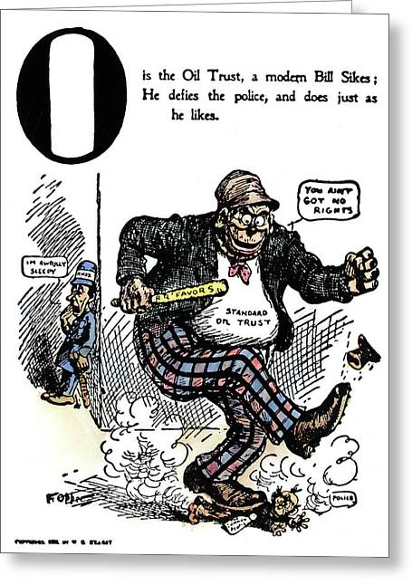 Cartoon Anti-trust, 1902 Greeting Card by Granger