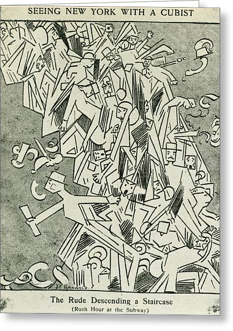 Cartoon Cubism, 1913 Greeting Card by Granger