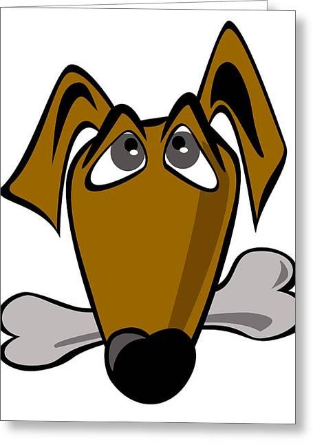 Cartoon Dog Greeting Card by Volodymyr Horbovyy