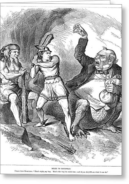 Cartoon Monopoly, 1881 Greeting Card by Granger