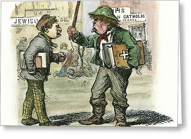Cartoon Parochial Schools, 1870 Greeting Card by Granger