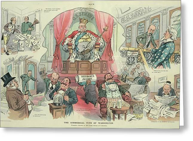 Cartoon Puck, 1905 Greeting Card