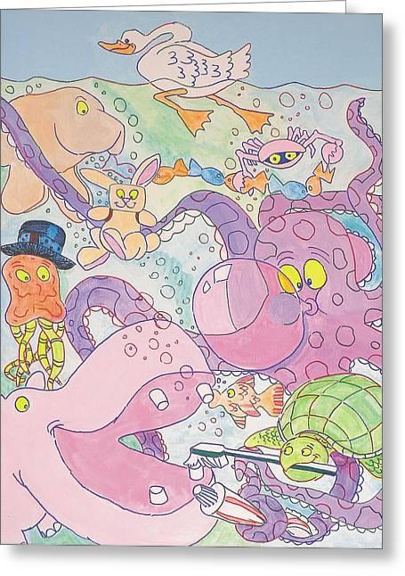 Cartoon Sea Creatures Greeting Card