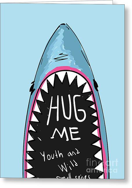 Cartoon Shark For Kids Clothing Greeting Card