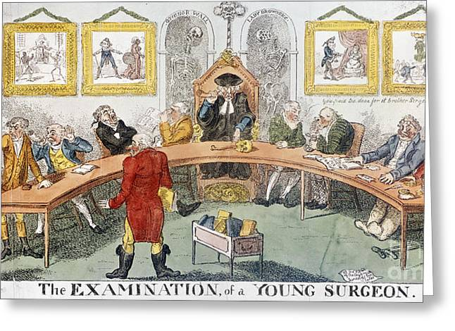 Cartoon: Surgeons, 1811 Greeting Card by Granger