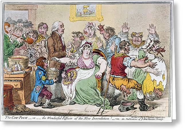 Cartoon: Vaccination, 1802 Greeting Card by Granger
