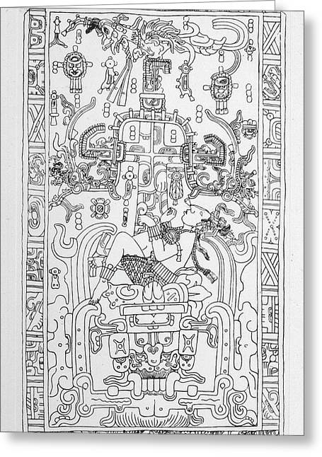 Carving At Palenque, Mexico,  Which Greeting Card