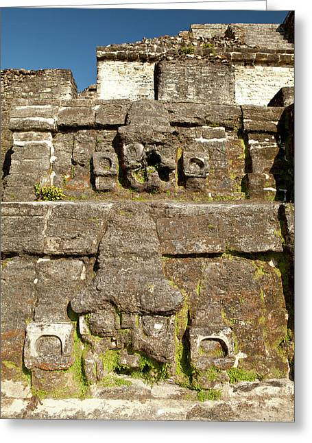 Carving On Side Of Ruin Greeting Card