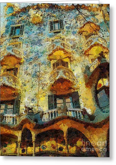Casa Battlo Greeting Card