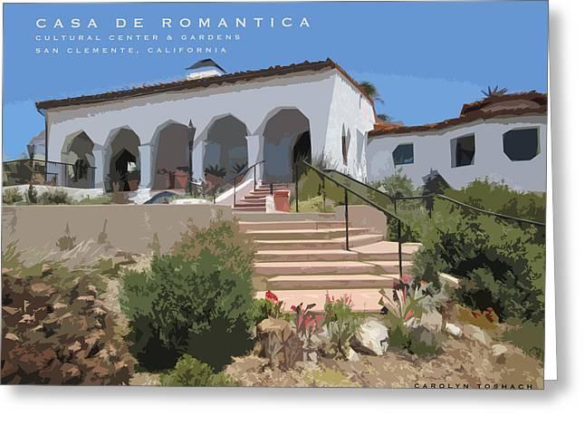 Casa De Romantica Greeting Card by Carolyn Toshach