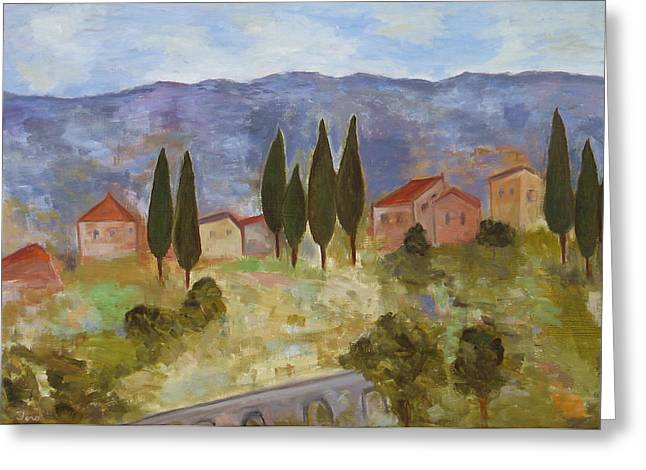 Casas De Segovia Greeting Card by Trish Toro