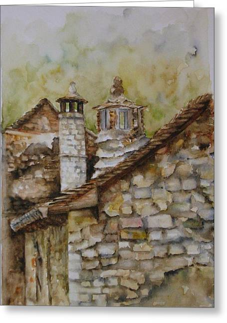 Casa En Alto Aragon Greeting Card