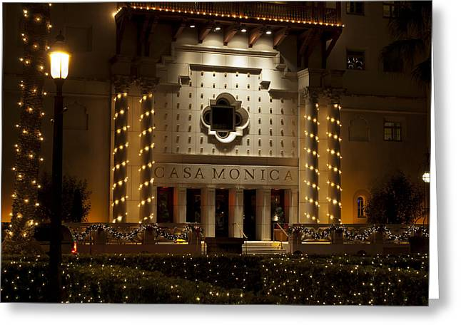 Casa Monica Greeting Card by Kenneth Albin