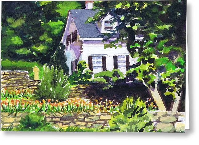 Greeting Card featuring the painting Casa Peligro by Susan Herbst