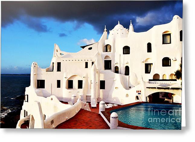 Casa Pueblo Al Mar Greeting Card by Valerie Rosen