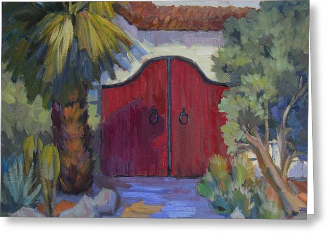Casa Tecate Gate 2 Greeting Card by Diane McClary