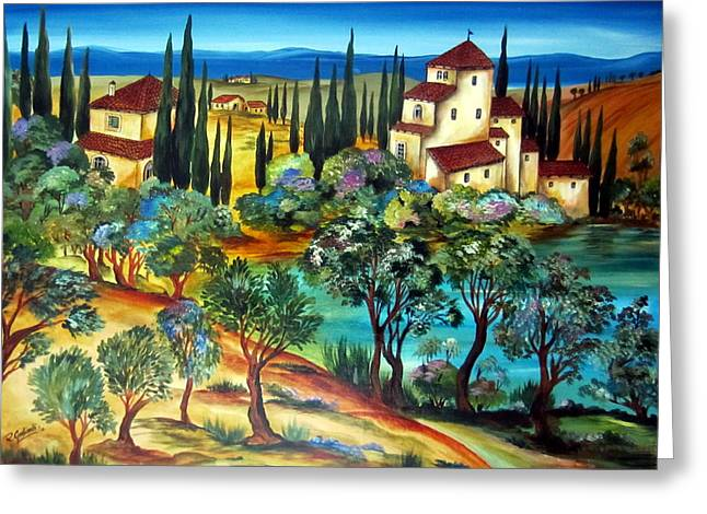 Casali Toscani-tuscany Farmhouses Greeting Card
