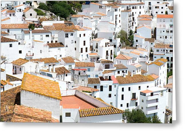 Casares Rooftops Greeting Card