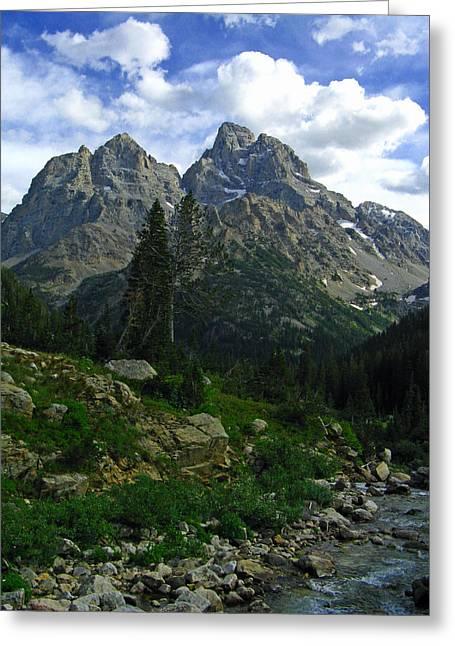 Cascade Creek The Grand Mount Owen Greeting Card