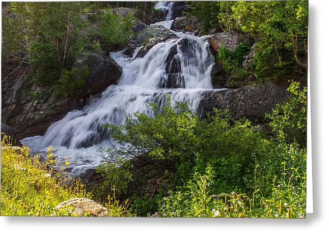 Cascade Falls - Indian Peaks Wilderness Greeting Card by Aaron Spong