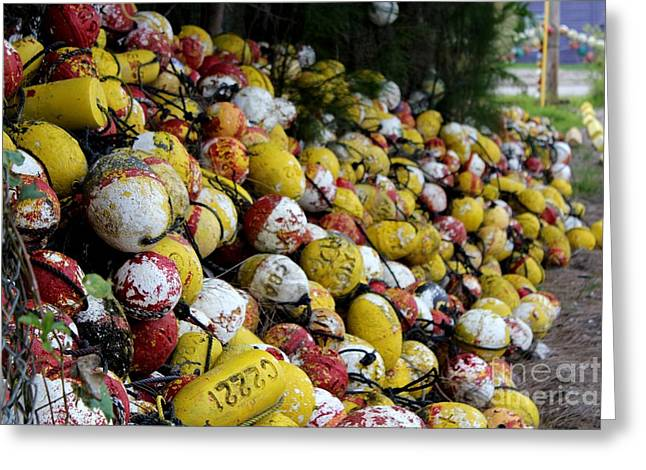 Cascade Of Buoys Greeting Card