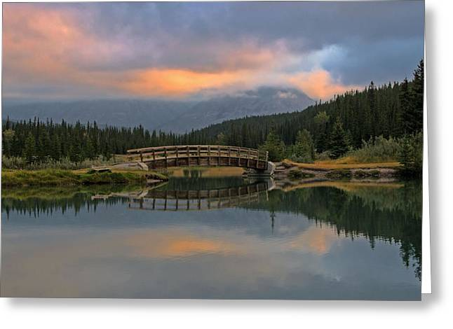 Cascade Ponds Sunrise Greeting Card