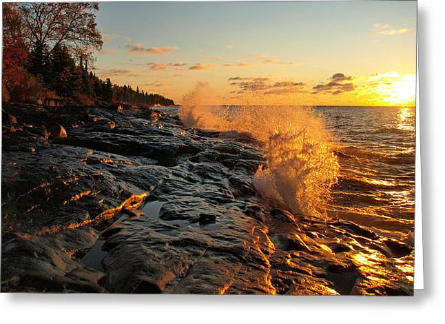 Cascade Sunrise Greeting Card by Melissa Peterson