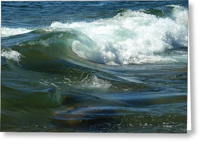 Greeting Card featuring the photograph Cascade Wave by James Peterson