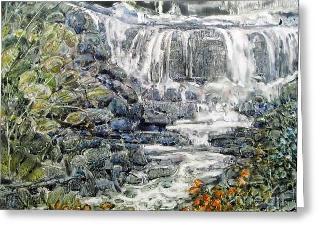 Cascade With A Touch Of Orange Greeting Card