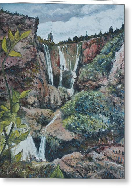 Cascades D'ouzoud Morocco 2014 Greeting Card by Enver Larney