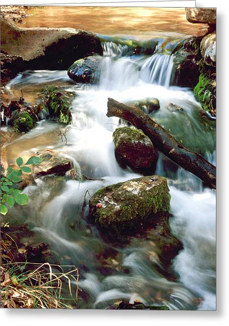 Cascades In Roman Nose State Park Greeting Card