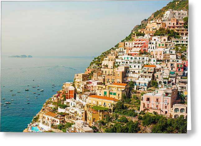 Cascades Of Positano City Greeting Card by Gurgen Bakhshetsyan