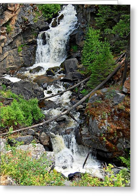 Cascades Waterfall Greeting Card