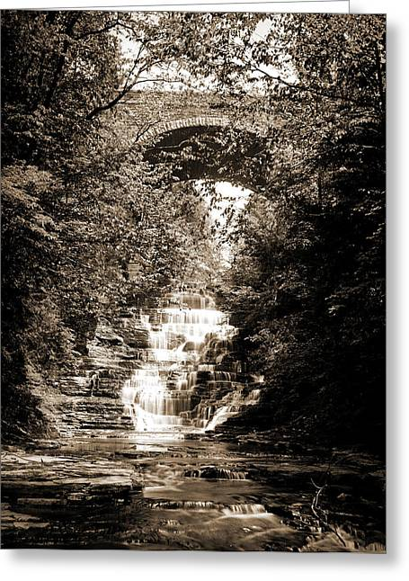 Cascadilla Gorge, Ithaca Greeting Card by Litz Collection