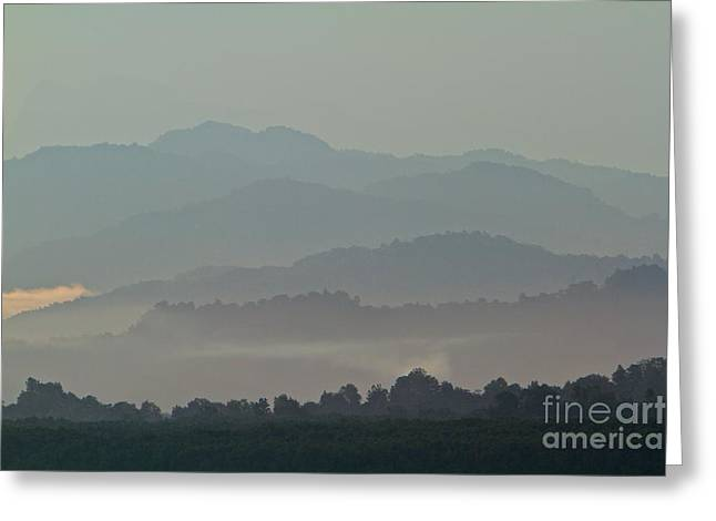 Greeting Card featuring the photograph Cascading Hills  by Gary Bridger